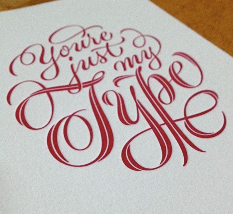 Print design trend 4: Hand getekende typografie