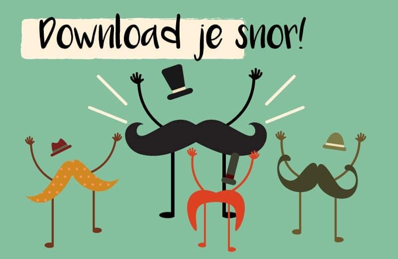 Download hier je snor