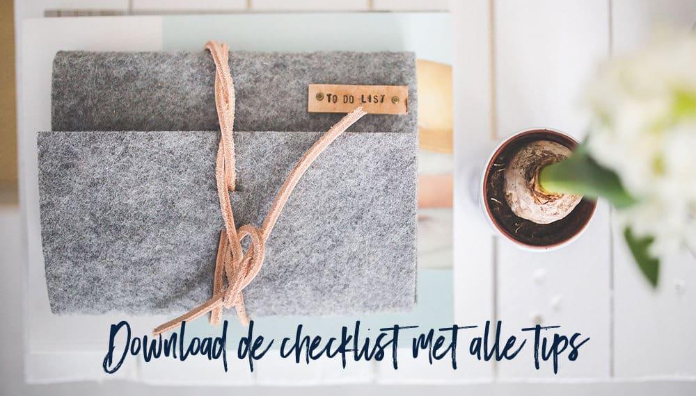 Download de checklist met alle tips over bloggen