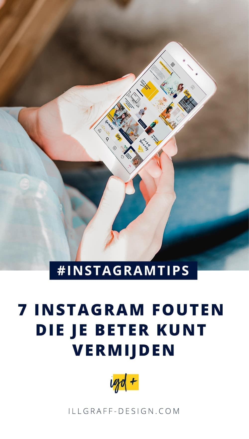 7 Instagram fouten die je beter kunt vermijden