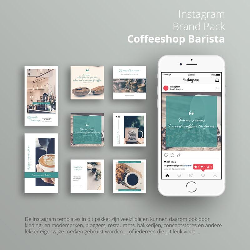 Instagram brand pack coffeeshop barista