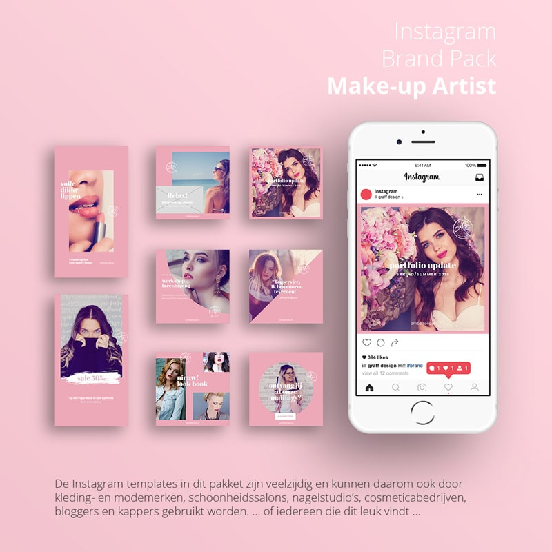 Instagram brand pack make-up artist