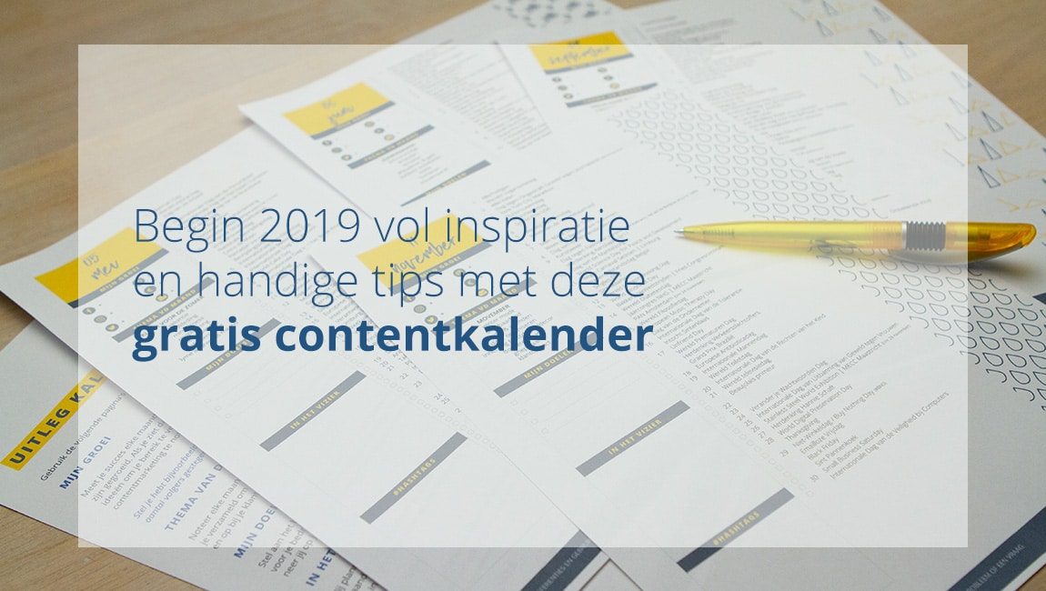 Gratis contentkalender 2019 voor al je marketingdoeleinden