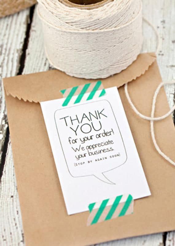 Klantenbinding door middel van een bedankkaartje